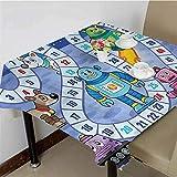 dsdsgog Party Table Cloth Futuristic Robots Mechs,50x50 inch pad Square Tablecloth
