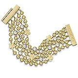 Guess Bracelet pour Femme en Acier Inoxydable avec Zircone