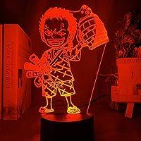 3DイリュージョンランプLEDナイトライトアニメワンピースロロノアゾロ子供用フィギュア子供部屋の装飾USBテーブルランプギフト子供用睡眠ランプ
