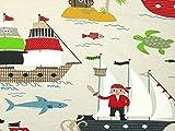 Piraten Print Stretch Jersey Knit Kleid Stoff, Meterware,