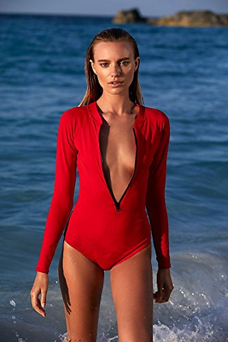 TAOTINGYAN Trajes De Baño,Bikinis para Mujer Sin Respaldo Halter Bañador Leotard Leotard Ropa Surf,Gules,S