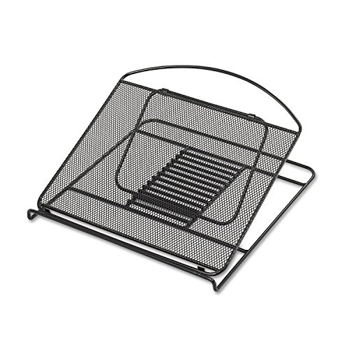 ** Onyx Adjustable Steel Mesh Laptop Stand, 12 1/4 x 12 1/4 x 1, Black ** by Safco
