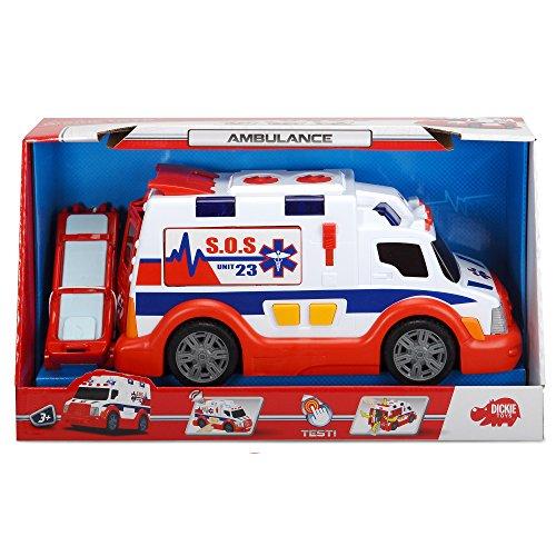 Dickie Toys 203308360 - Action Series Ambulance, Rettungswagen, 33 cm