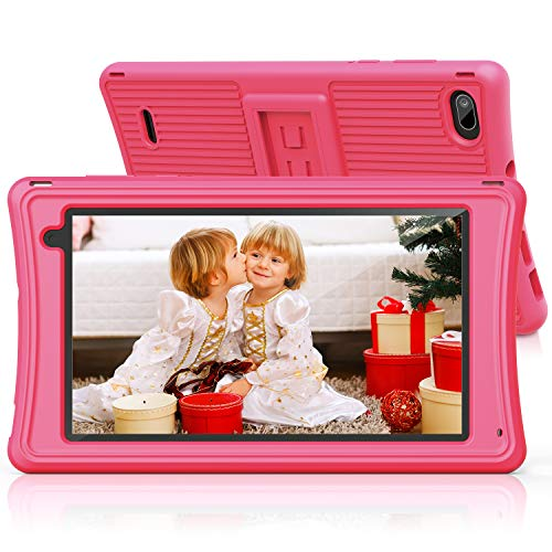 """Kids Tablet 7""""-JEEMAK Toddler Tablet with Parental Control, Wifi, Dual Camera, Android 10, Kids Edition Tablets for Home School Education, 2GB RAM+16GB ROM HD Display, Childrens Tablet with Case, Pink"""