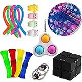 nvIEFE Sensory Fidget Toys Set de juguetes de alivio del estrés y la ansiedad para adultos, juguete educativo para niños (juego D)