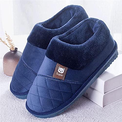 Kirin-1 Hausschuhe männer 46,Behaarte Schuhe Herrentasche mit Baumwollpantoffeln groß Haushalt rutschfest-38-39_grau