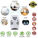 ZIZLY Ultrasonic Pest Repeller Repellent, Home Pest Control Reject Device Non-Toxic Spider Lizard