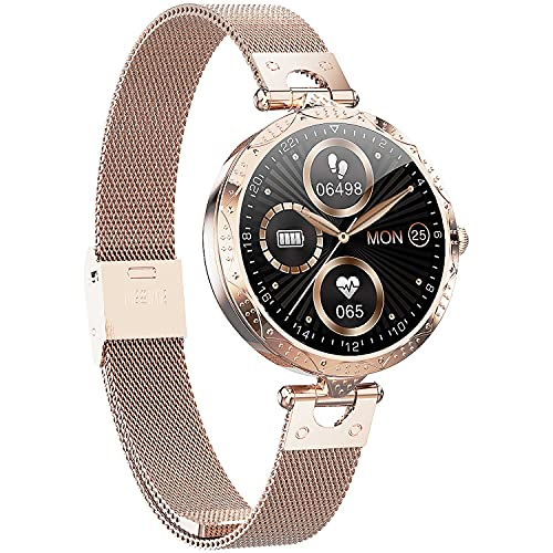 QL-Smart Watch for Women 1.09' Touch Screen Smartwatch Fitness Trackers...