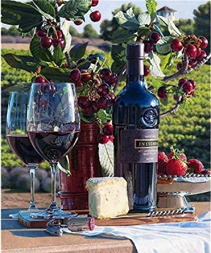 Houten puzzel voor volwassenen 1000 delen Een fles rode wijn patroon van hoge kwaliteit, mooi verpakt, goed cadeau voor vrienden