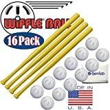 WIFFLE 32' Plastic Bats 4 Pack, Ball Baseballs Official Size 12 Pack and NOIS Tissue Pack