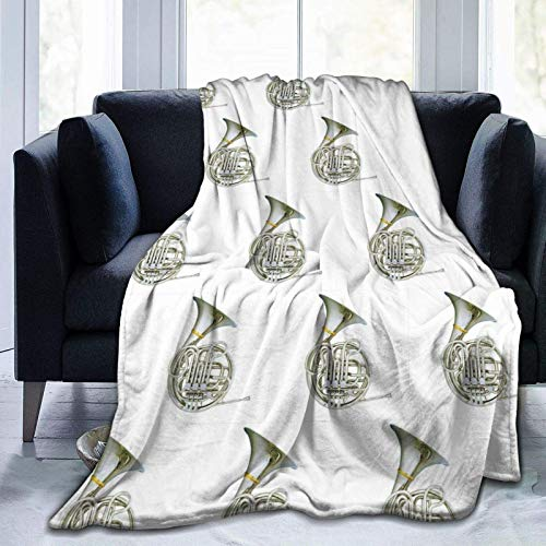 maichengxuan Manta extra suave para adultos, hombres y mujeres, manta de viaje de franela de cuerno francés plateado, mantas de viaje, mantas grandes para sofá de invierno/otoño