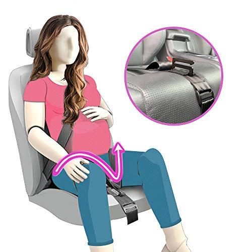 Ajustador de Cinturón de Maternidad, TUPSKY Inturón de Seguridad Comodidad y Seguridad para Futuras Mamás, Protege a Tu bebé por nacer, Un Imprescindible para las Embarazadas Negro