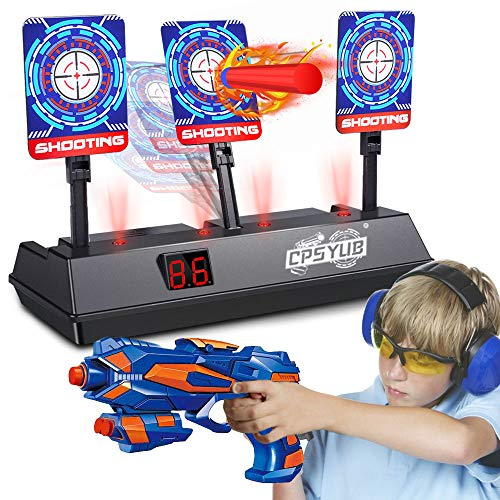 CPSYUB (2020 Updated Edition) Electric Digital Target for Nerf Guns Toys,Scoring Auto Reset Nerf Target for Shooting with Wonderful Light Sound Effect Nerf Guns for Boys Girls(Only Target)