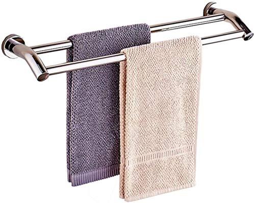 Handdoekhouder, dubbele handdoekhouder, wastafel van roestvrij staal 304, corrosiebestendig, niet gemakkelijk te roesten, maat: 90 cm 100CM