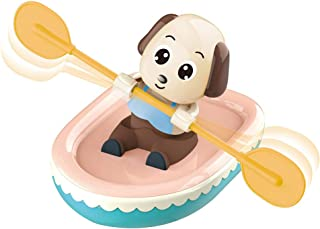 Anniston Kids Toys, Cute Pig Dog Water Wind-up Boating Rowing Boat Kids Bathing Beach Swimming Toy Baby Toys Perfect Fun T...