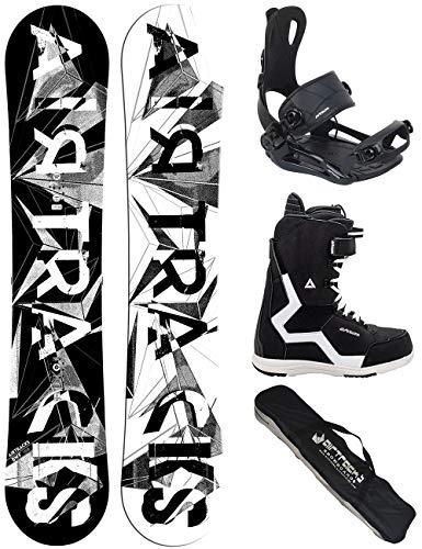 Airtracks Snowboard Set/Board BWF Wide 165 + Snowboard Bindung Master + Boots Strong QL 44 + Sb Bag