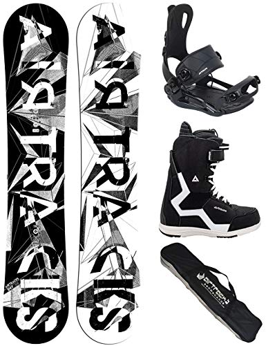 Airtracks Snowboard Set/Board BWF Wide 165 + Snowboard Bindung Master + Boots Strong 45 + Sb Bag