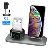 Chargeur sans Fil pour iPhone iWatch, Chargeur Charge Qi Portable Chargeur Station...