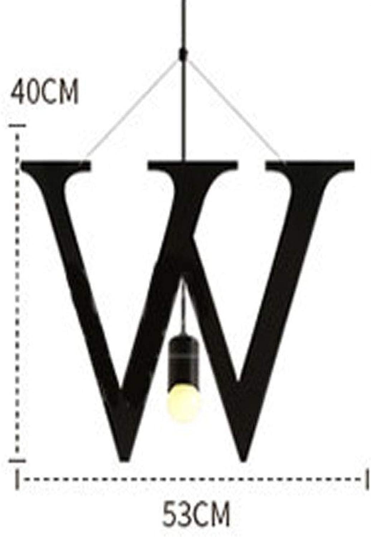 SGWH Englisch Alphabet Pendelleuchte Moderne Kreative Minimalismus Metall Pendelleuchte E27 Lampenfassung Diverse Spiel Modellierung Wohnzimmer Schlafzimmer Bar Cafe Hotel Dekorative Beleuchtung, W