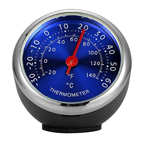 Porfeet Auto Thermometer/Hygrometer, Mini Auto Armaturenbrett Thermometer Hygrometer Mechanische Verzierung Auto Dekoration Blau HygrometerNone