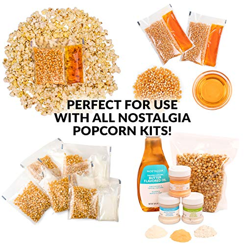 Product Image 6: Nostalgia Stainless Steel 6-Quart Stirring Speed Popper with Quick-Heat Technology 24 Popcorn, with Kernel Measuring Cup, Makes Roasted Nuts, Perfect for Birthday Parties, Movie Nights