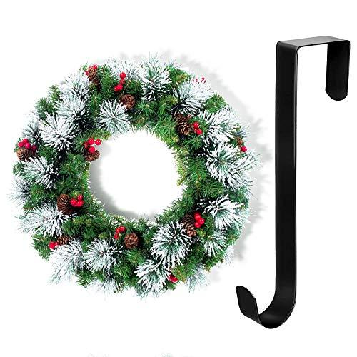 Uni-Fine Weihnachtskranz Türkranz Adventskranz Künstlich Dekokranz Weihnachten Wandkranz Weihnachten Herbstkranz Deko Weihnachtskranz zum Aufhängen für Tür, Outdoor, Winter, Fenster