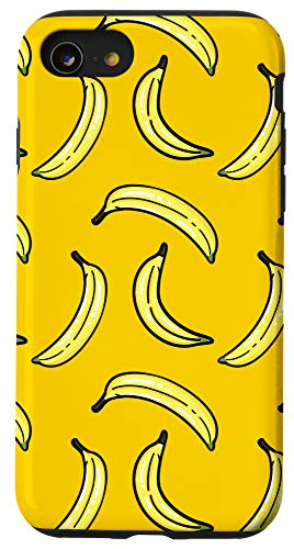 iPhone SE (2020) / 7 / 8 Cute Yellow Fruity Bananas Pattern Case