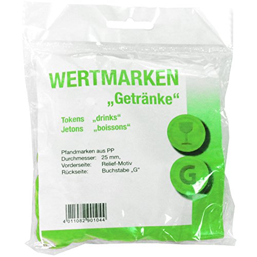 Wertmarken-Chips Getränke, grün, 100 Stk.