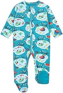 Punto Suave Piccalilly Pijama de beb/é con pies algod/ón org/ánico Libre de qu/ímicos Estampado de Pato Azul para beb/é ni/ña beb/é ni/ño
