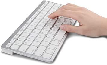 GSH Ultra Thin Wireless Bluetooth Keyboard for iPad/iMac/iPhone/Android Phones/Samsung Galaxy Tab, Tablets and More Device...
