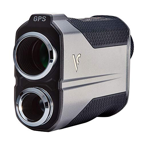 Voice Caddie Golf GL1 Hybrid GPS Laser Rangefinder w/Viewfinder Target Integration, Black