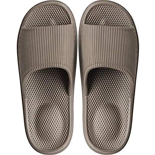 B/H Therapie Massage Schuhe,Massieren Sie geruchsneutrale Fußsandalen, weiche Sohle, leise, leise Hausschuhe - Kaffee Color_40-41,Slippers Loch Mesh