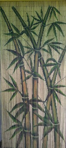 ABeadedCurtain 125 String Tropical Bamboo Stalks Beaded Curtain Handmade with 4000 Beads (+Hanging Hardware) 38% More Strands and Beads