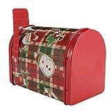 Cabilock Latas de Galletas de Navidad en Forma de Buzón Cajas de Hojalata de Navidad Bote Frascos de Almacenamiento Vacíos Contenedor Caja Decorativa para Dulces Navideños Dulces de