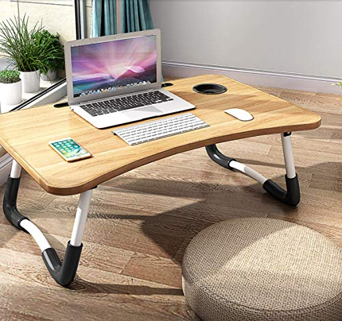 Foldable Laptop Bed Table Lap Desk Stand, Serving Tray Dining Table with Slot, Notebook Stand Holder, Bed Tray Laptop Desk for Eating Breakfast,...