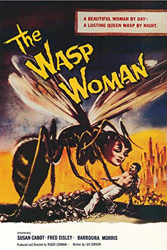 American Gift Services - Vintage Science Fiction Horror Movie Poster The Wasp Woman - 24x36