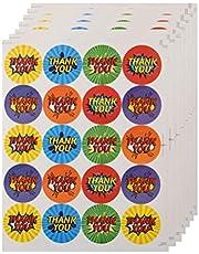 500 قطعة من ملصقات الختم المطبوع عليها حروف وشكركم مدورة ذاتية اللصق حقيبة ملصقات تصلح للحفلات ملصقات هدايا زينة (20 قطعة في 1 ورقة) لوازم الحفلات