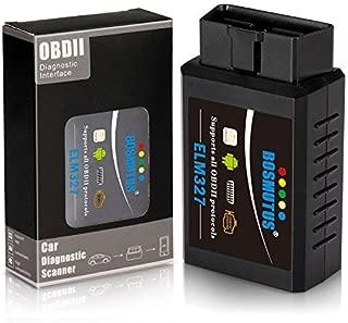 Bosmutus OBD2 Bluetooth, ELM327 V1.5 OBD 2 Scanner Code Reader, EOBD/OBDii Car Diagnostic Tool (More Than 3000 Database Code) - Bluetooth for Android/Windows