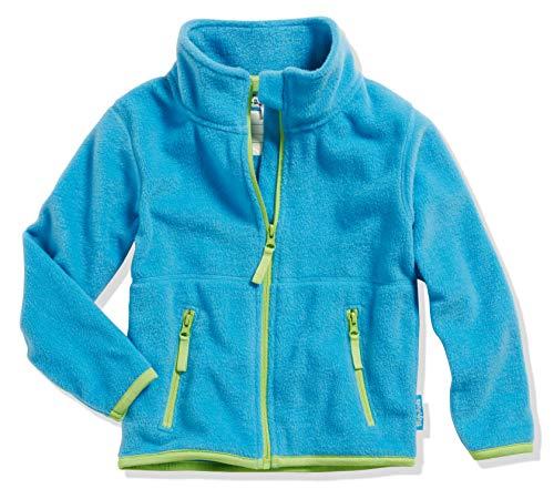 Playshoes Mädchen Fleece farbig abgesetzt Jacke, Blau (Aquablau 23), 98