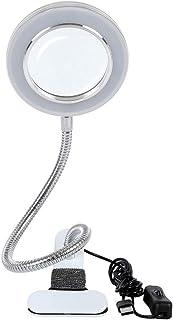 Lámpara estética con lupa 8 dioptrías, lámpara LED USB portátil, clip portátil y lámpara de cuello de cisne flexible para ...