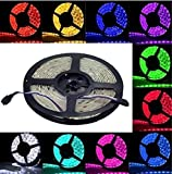 LED Light Strip SMD 5050: This LED strip lighting has 5050 SMD Leds with dimmer and brightness controls, and with IR remote controller, RF Control Box and power adapter-16 Color options. Waterproof Cuttable & Linkable: The strip is Waterproof and the...