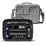 tomtoc Storage Case for Nintendo Switch, Carrying Case Fit 32 Games and Pro Controller, Hard Shell Protective Case Fit Complete Set of Accessories for Travel and Party