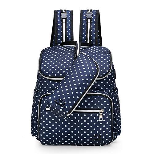 Verwisselbare tas, baby douche geschenken, baby veranderen zak, baby zak, baby veranderen rugzak, luiertas. Multifunctionele waterdichte reistas met USB-poort, grote capaciteit (grijs, roze, lichtblauw, marineblauw en zwart) marineblauw