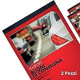 Flex 164570000 Buoni di Consegna Autoricalcanti in Duplice Copia - Blocchi Ricevute Generiche Moduli Trasporti e Ddt - Blocchetto Consegne in 2 Copie Blocchetti Formato 21x15 (2)