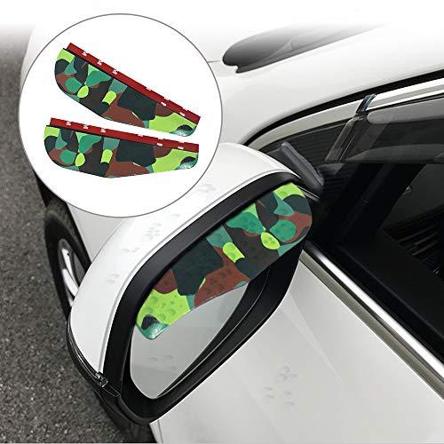Tuqiang Voiture Rétroviseur Pluie Sourcil Housse de Pare-Soleil Imperméable pour A1 A3 S3 A4 S4 RS4 A6 S6 RS6 Q3 Q5 Q7 TT TTS TTRS R8 2 Pièces