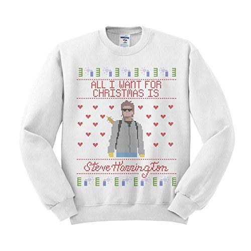 TeesAndTankYou Steve Harrington Christmas Sweatshirt Unisex