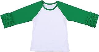 OBEEII Baby Kid Girl Icing Ruffle Tops Raglan T-Shirt Long Sleeve Tee Shirt Casual Clothes