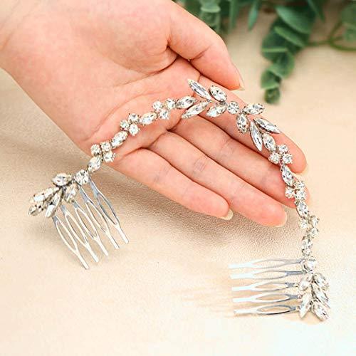 Unicra Wedding Crystal Hair Combs Bridal Headpieces Wedding Hair Accessories for Brides (Silver)