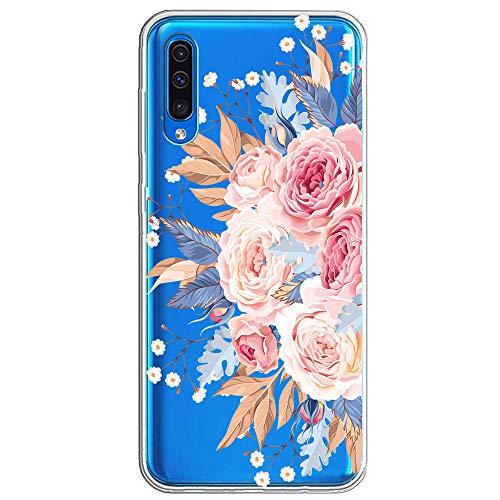 Kompatibel mit Samsung Galaxy A50 Hülle,Galaxy A50 Handyhülle Schutzhülle,Transparent Silikon Painted Muster Weich Silikon Ultra Dünn, Kratzfest & Wasserdicht SchutzHülle für Galaxy A50 (8)