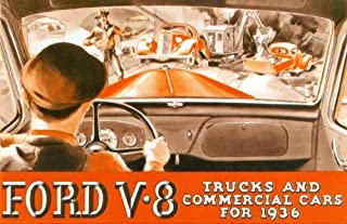 1936 FORD V8 TRUCK & PICKUP BEAUTIFUL DEALERS SALES BROCHURE - ADVERTISEMENT INCLUDES: panels, stake bodies, platform trucks, dump trucks, panel delivery, sedan delivery and station wagon 36